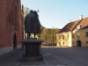 Johnnes Rudbeckius-statyn utanför domkyrkan (Fotograf: Maria Bjersby Stenudd)